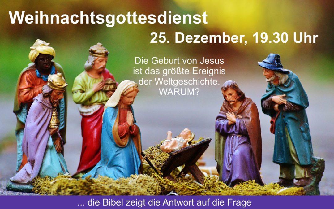 Weihnachtsgottesdienst, 25. Dezember 2019