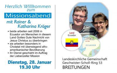 Missionsabend mit Rainer Kröger aus Ecuador